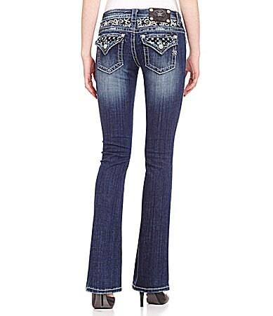 Miss Me Yoke-Embellished Bootcut Jeans