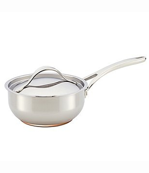 Anolon Nouvelle Copper & Stainless Steel 2.5-Quart Covered Saucier