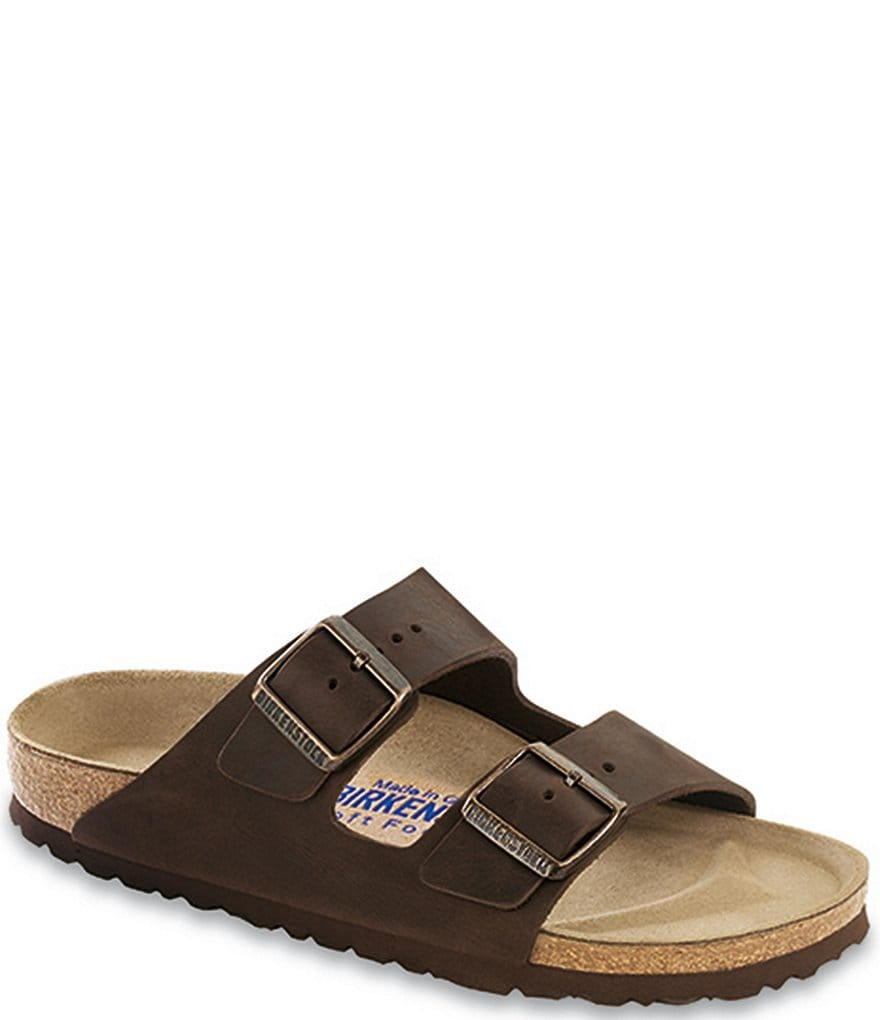 Birkenstock Arizona Oiled Suede Soft Footbed Slip On Casual Sandals
