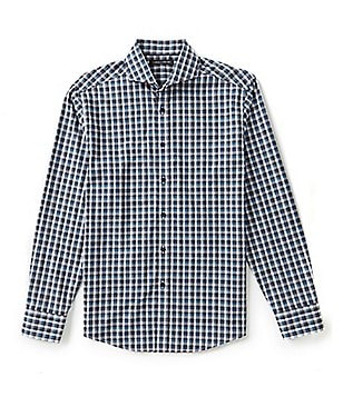 Vince Camuto Long-Sleeve Plaid Woven Shirt