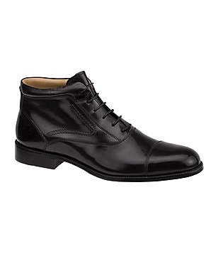 Johnston & Murphy Stratton Leather Cap-Toe Boots