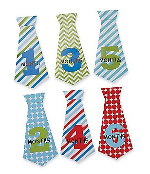 Mud Pie Baby Boys Neck Tie Monthly Milestone Stickers