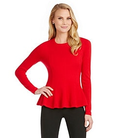 Antonio Melani Carolina Peplum Cashmere Sweater