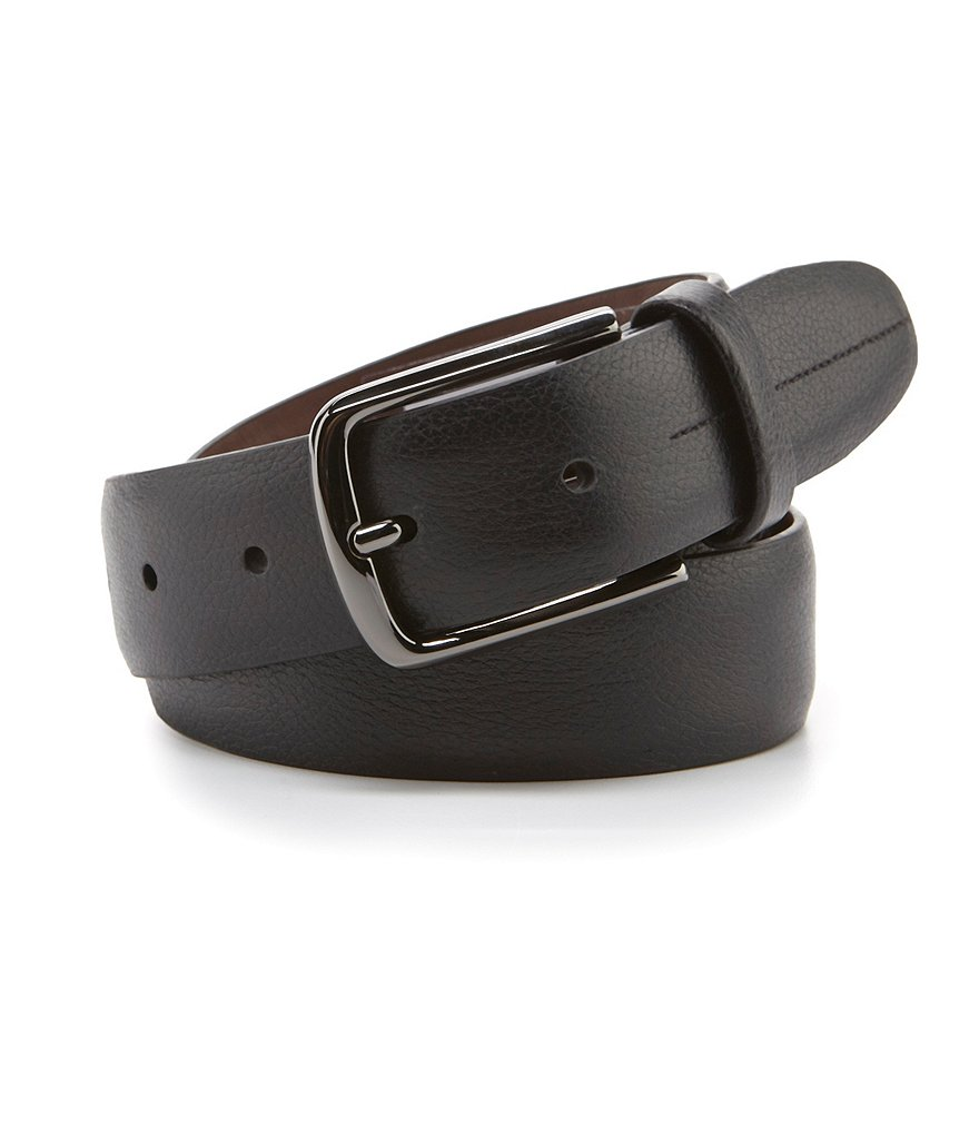 Roundtree & Yorke Big & Tall Park Avenue Leather Belt