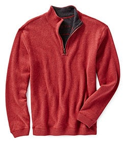 Cremieux Long-Sleeve Reversible Half-Zip Pullover