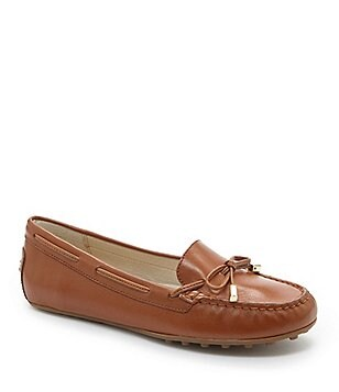 MICHAEL Michael Kors Daisy Leather Bow Slip On Moccasins