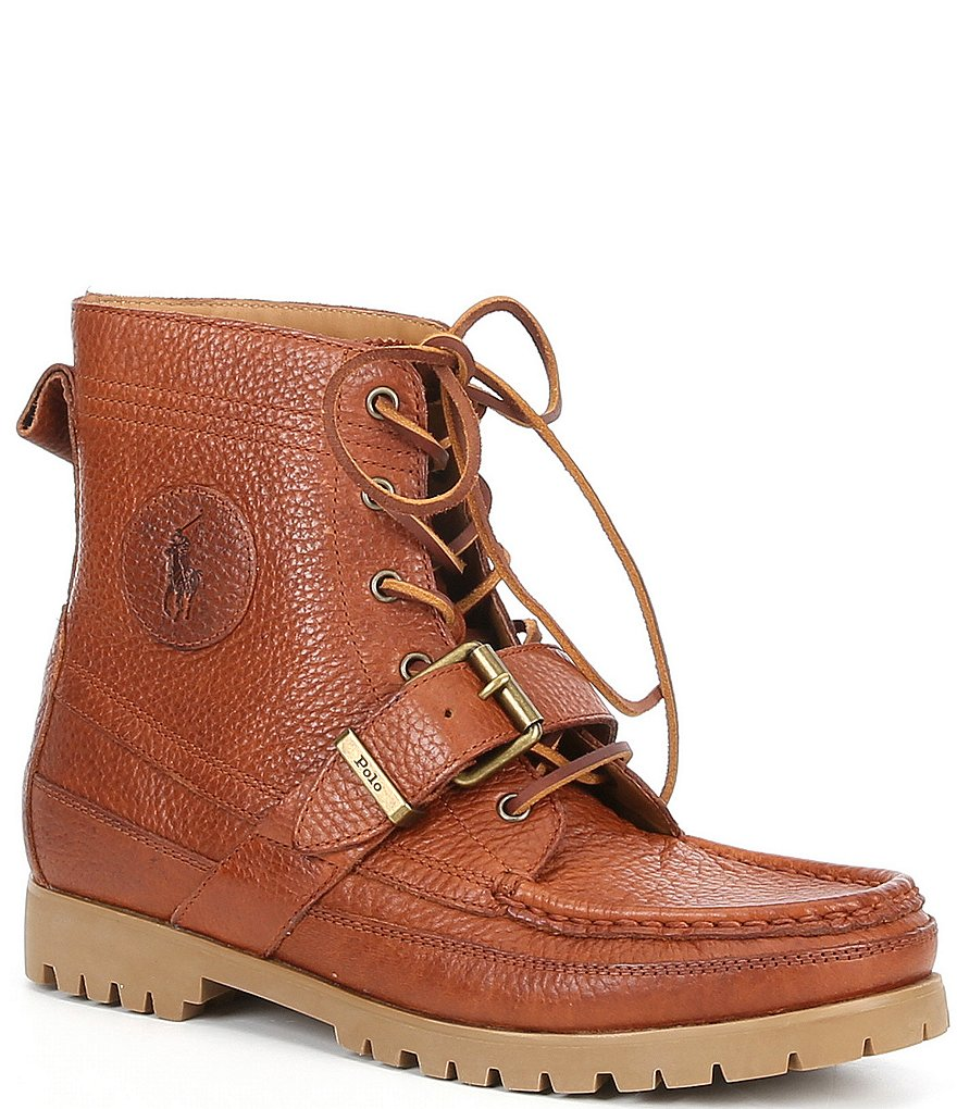 polo ralph ranger leather buckle boots dillards