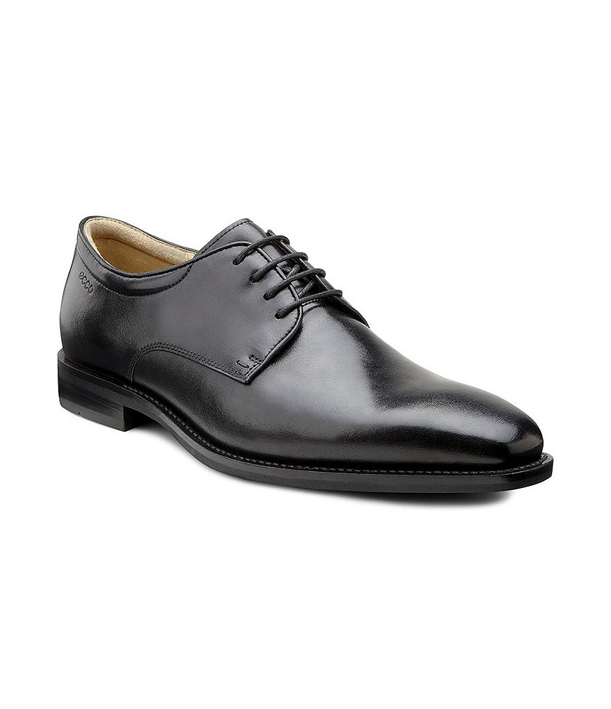 ECCO Faro Leather Tie Dress Shoes