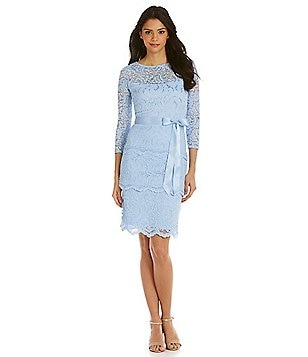 Marina Floral Lace Ribbon Tie Dress