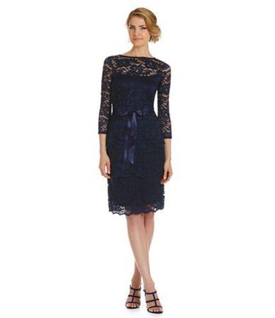 Ralph Lauren Light Darkblue Women Mesh Polo Collar Dress