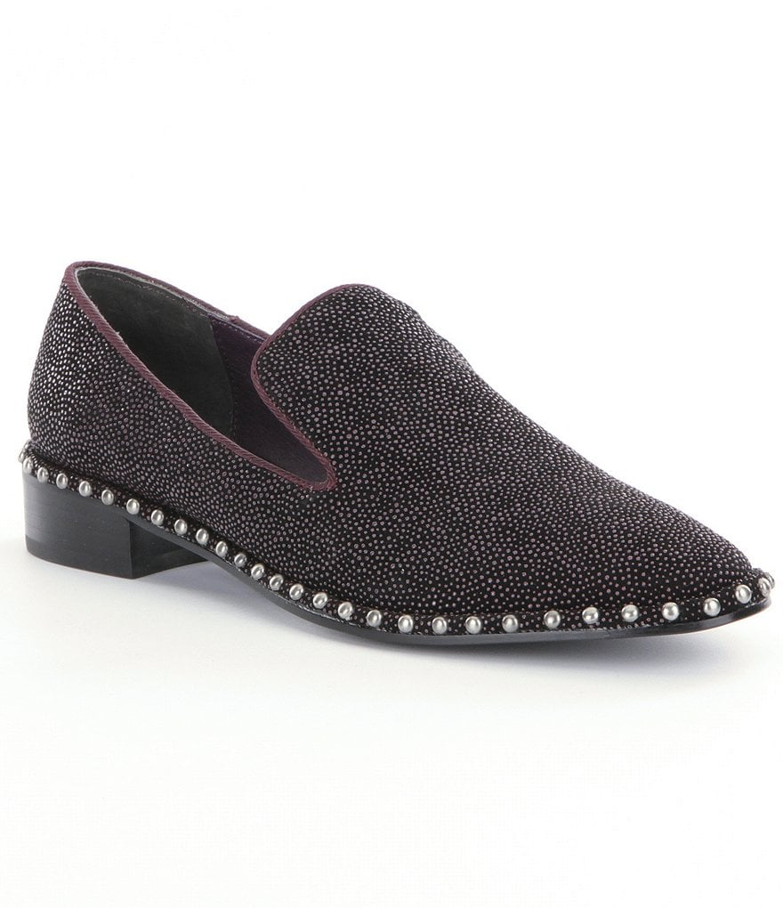 Adrianna Papell Prince Studded Smoking Slippers
