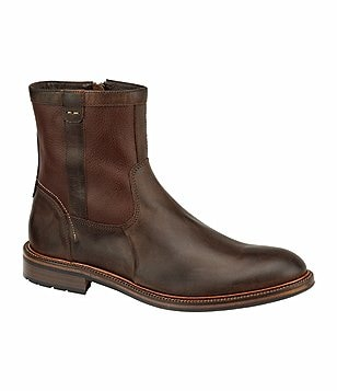 J&M Est. 1850 Fulton Leather Side-Zip Boots