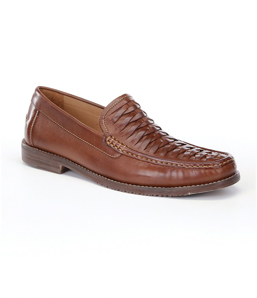Tommy Bahama Fynn Woven Leather Slip-On Loafers