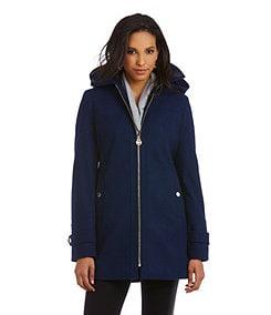 MICHAEL Michael Kors Hooded Wool-Blend Topcoat