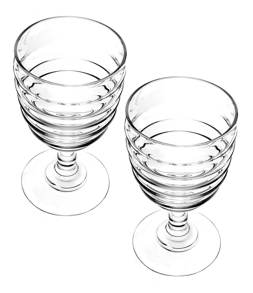 Sophie Conran for Portmeirion Ribbed Wine Glass Pair