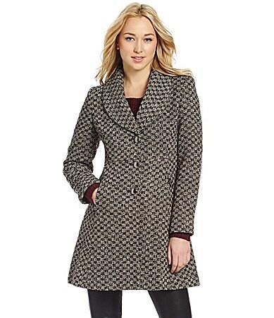 Kenneth Cole New York Houndstooth Coat | Dillards.com
