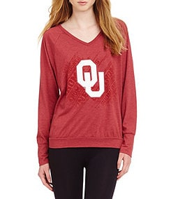 Emerson Street University of Oklahoma Raglan Top