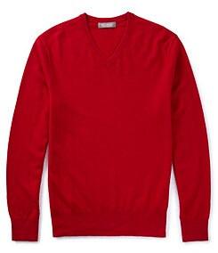 Daniel Cremieux Signature Solid V-Neck Cashmere Sweater