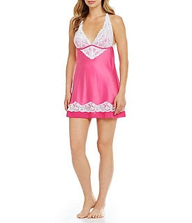 Cassandra Muse Satin and Lace Chemise Image