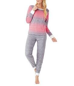 Kensie Long Sleeve Microfleece Gift Packaged Pajamas