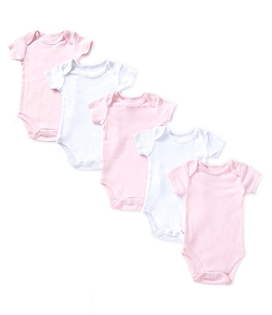 Starting Out Baby Girls Newborn-6 Months 5-Pack Short-Sleeve Bodysuits
