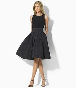 Lauren Ralph Lauren Pleated Fit-and-Flare Dress