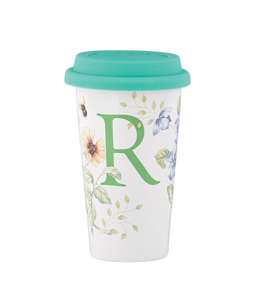 Lenox Butterfly Meadow Initial Travel Mug