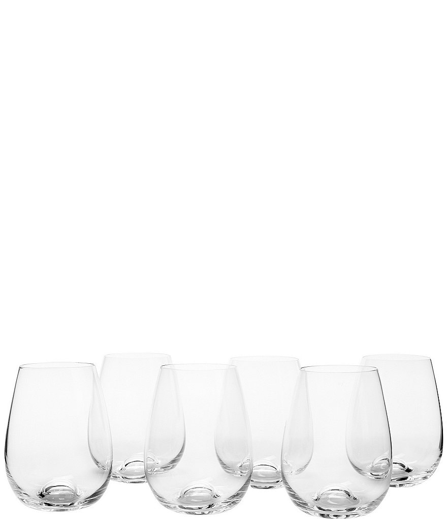 Lenox Tuscany Classics All-Purpose Stemless Wine Glasses, Set of 6