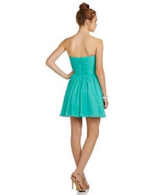 B. Darlin Beaded-Bust Shirred-Waist Party Dress