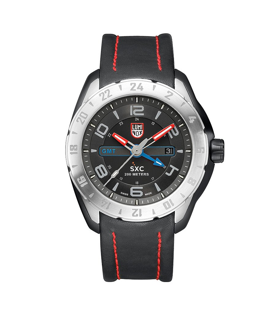 Luminox SXC Steel Leather Strap Multifunction Watch