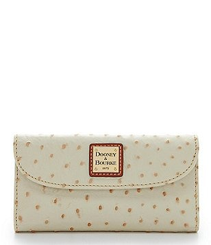 Dooney & Bourke Ostrich-Embossed Continental Clutch Wallet