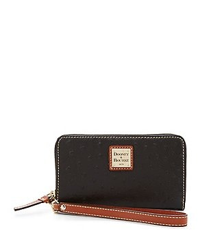 Dooney & Bourke Ostrich-Embossed Multifunction Phone Wristlet