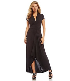 MICHAEL Michael Kors Hi-Low Matte Jersey Maxi Wrap Dress