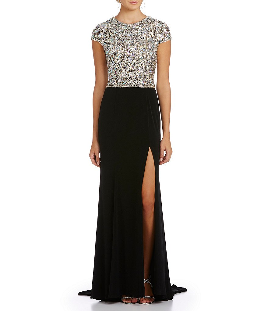 Terani Couture Black Dress