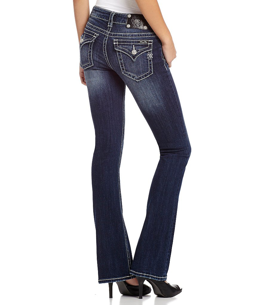Miss Me Mid-Rise Stretch Denim Bootcut Jeans