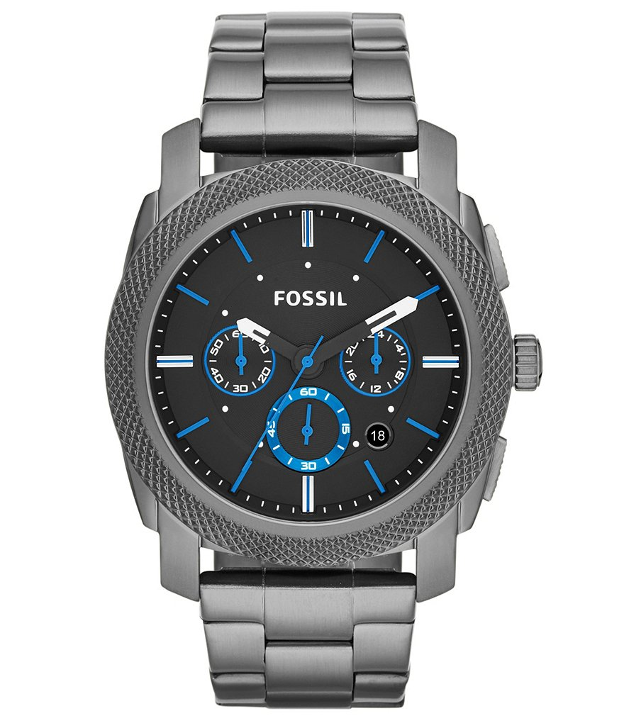 Fossil Men´s Machine Smoke IP Stainless Steel Chronograph Watch