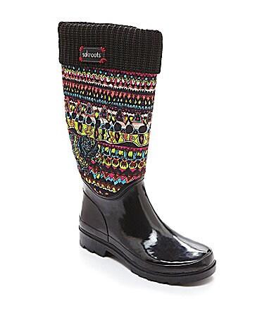 Dillards Rain Boots Green Sandals