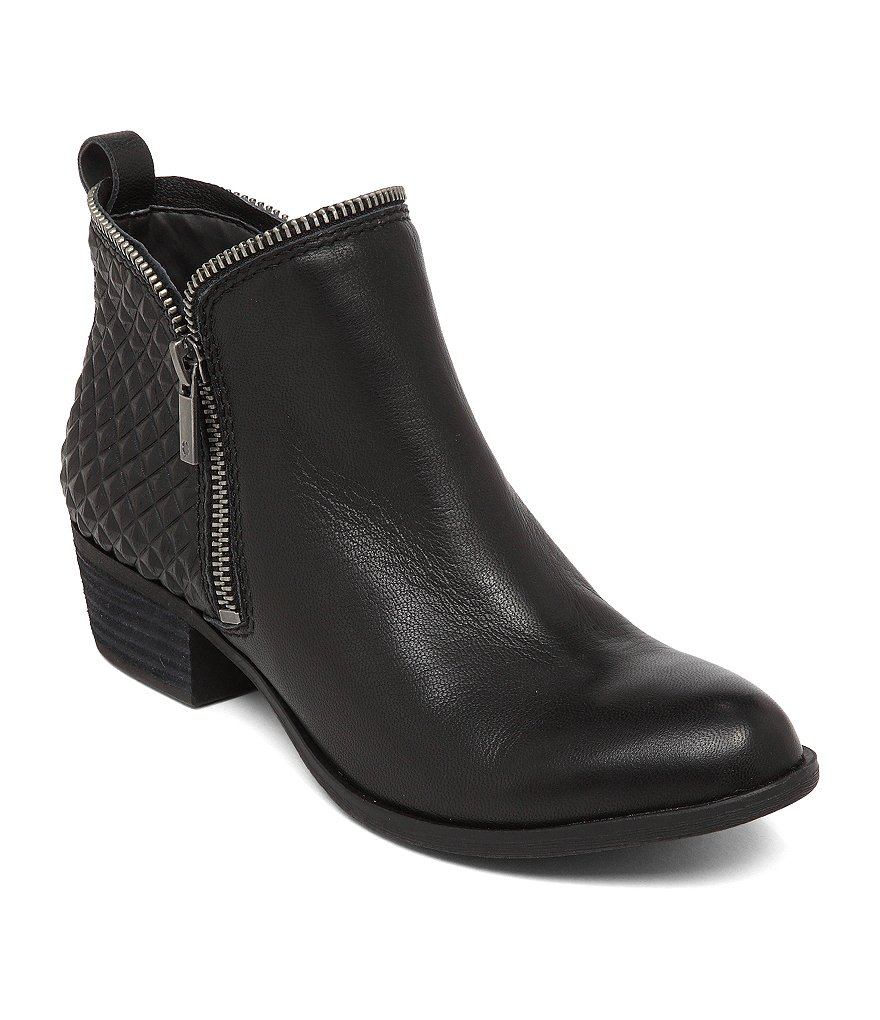Lucky Brand Bartalino Quilted Leather Zip Booties