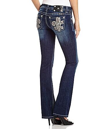 Miss Me Fleur-De-Lis Bootcut Jeans