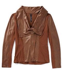 Jessica Simpson Altmar Knit/Faux-Leather Jacket