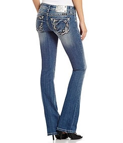 Miss Me Rhinestone-Embellished Bootcut Jeans