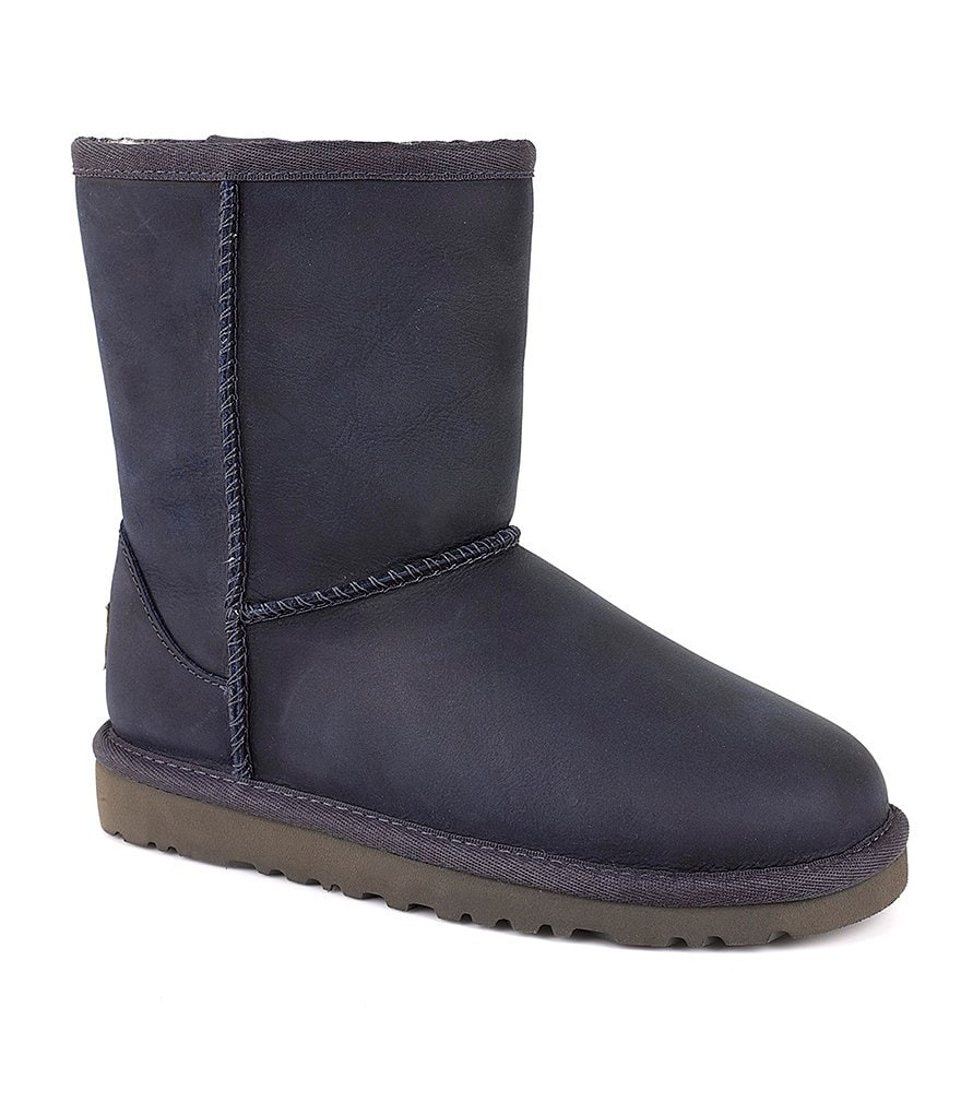 UGG® Classic Short Water-Resistant Leather Boots