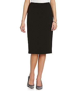 Kasper Stretch Crepe Skimmer Skirt