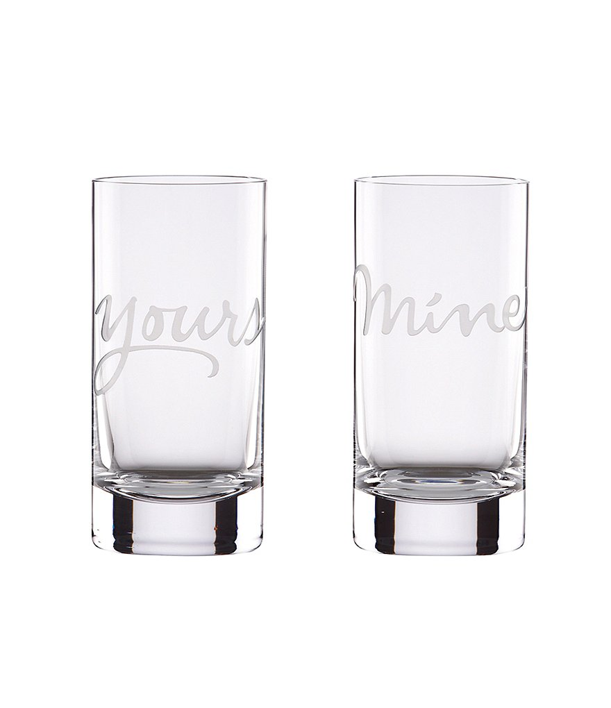 kate spade new york Two of A Kind Mine & Yours Highball Glass Pair