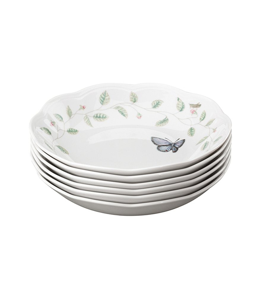 Lenox Butterfly Meadow Porcelain Pasta Bowls, Set of 6