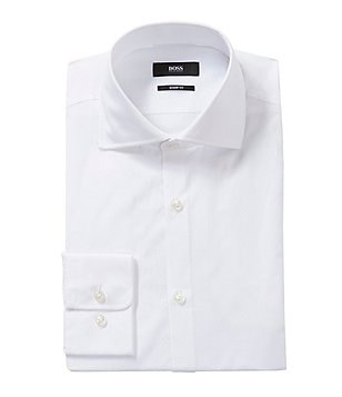 BOSS Hugo Boss Sharp Slim-Fit Spread-Collar Dress Shirt