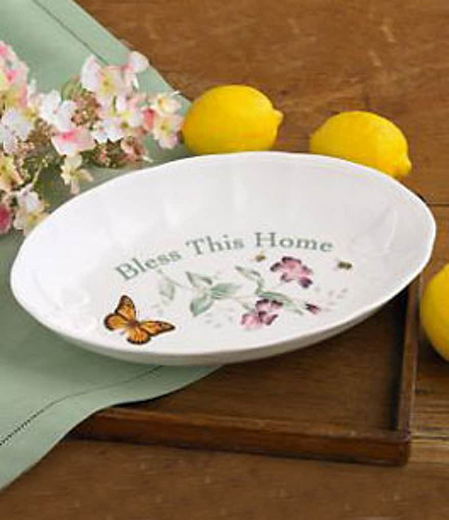 Lenox Butterfly Meadow Bless This Home Porcelain Tray