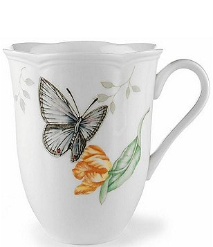 Lenox Butterfly Meadow Floral Porcelain Mug