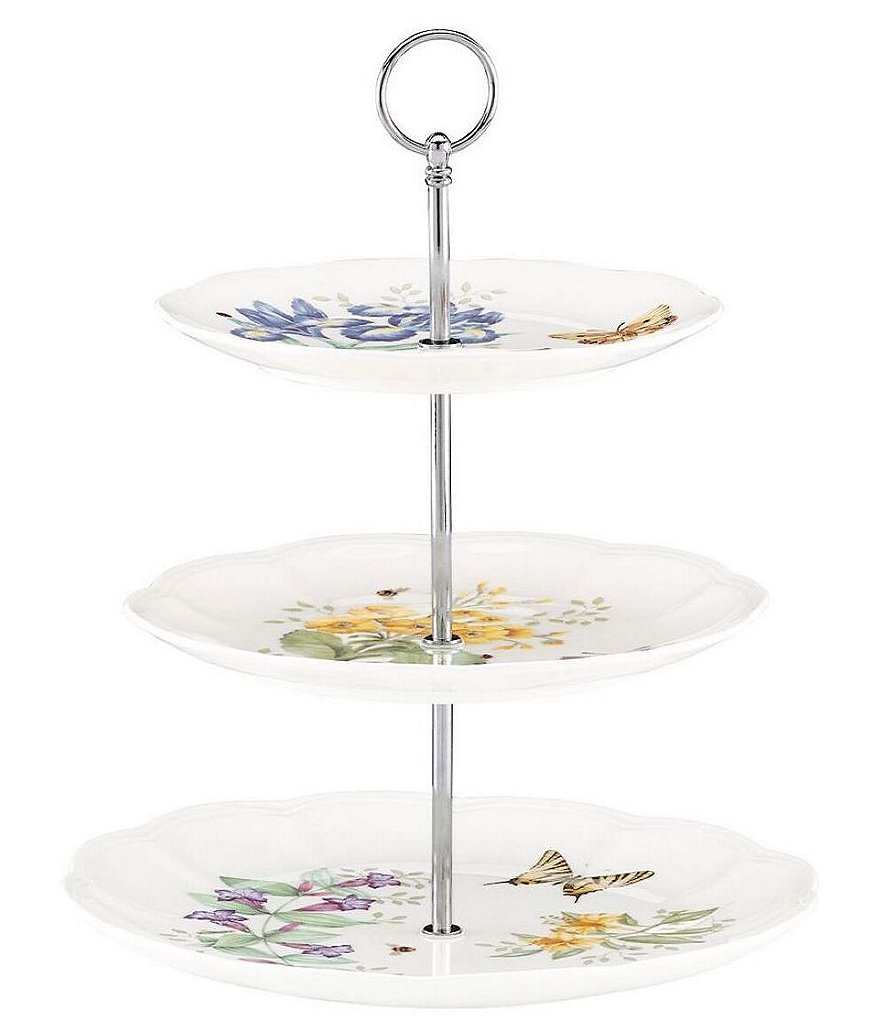 Lenox Butterfly Meadow 3-Tier Porcelain Server