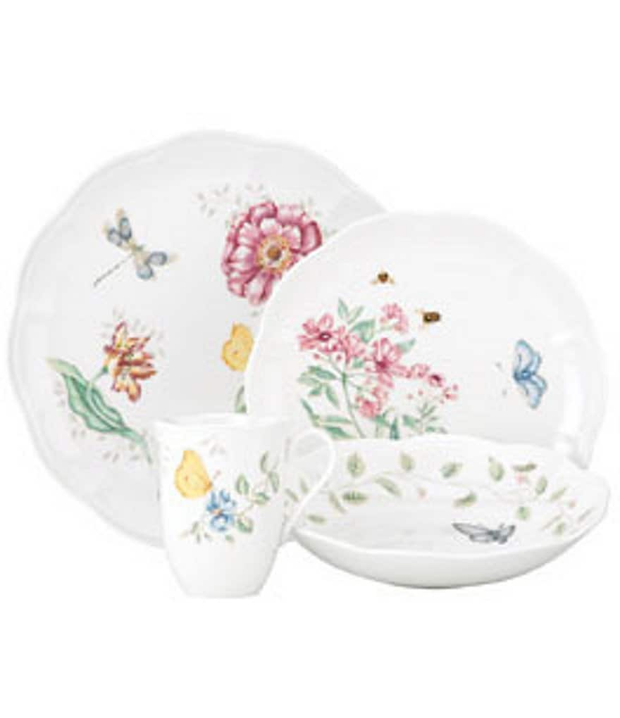 Lenox Butterfly Meadow Floral Porcelain 4-Piece Place Setting